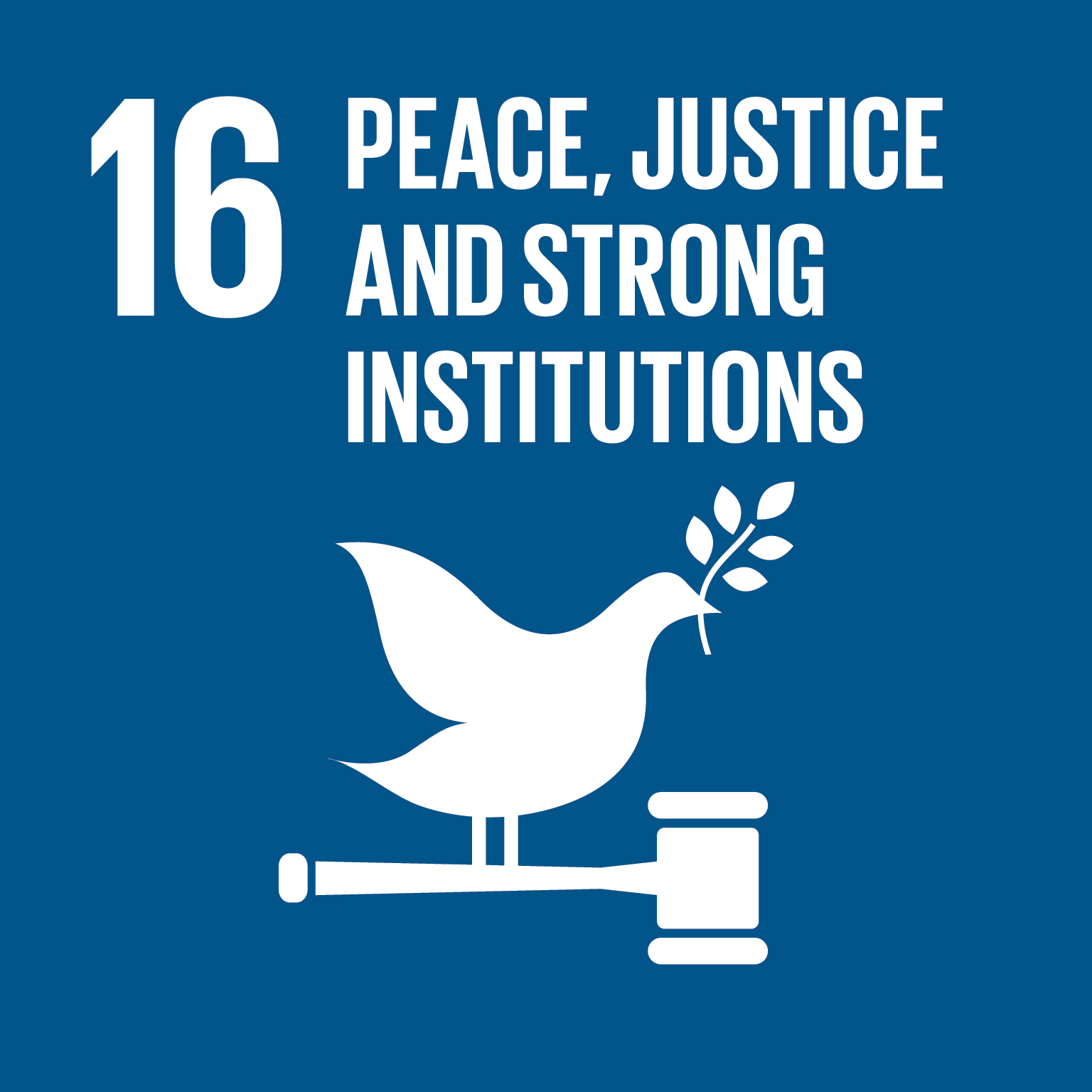 Image of Goal 16 - Peace, Justice and Strong Institutions