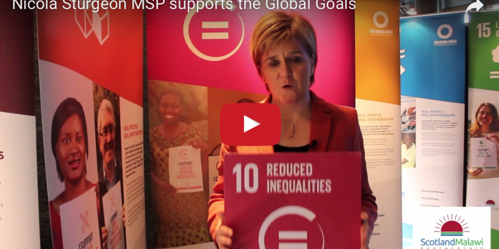 Screen shot of video featuring First Minister, Nicola Sturgeon