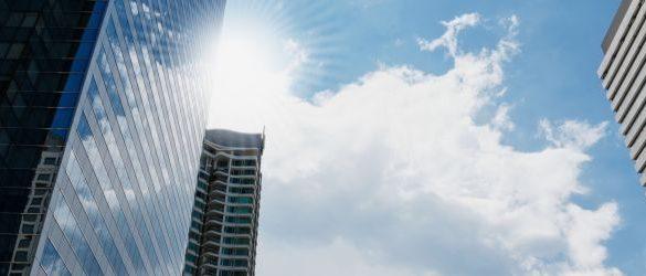 Skyline image of office buildings