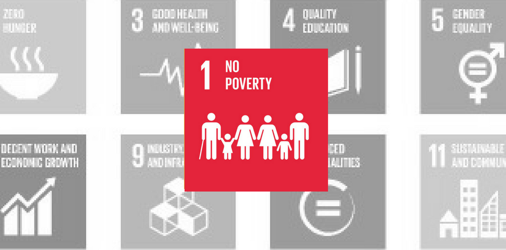 SDG 1: No Poverty Red Icon