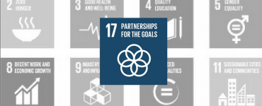 SDG 17: Partnership for the Goals Blue Icon