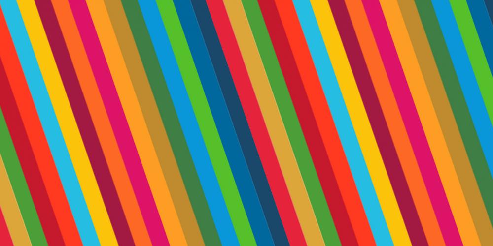 SDG colours stripes