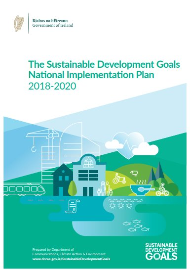 Front cover of Ireland's National Implementation Plan for the SDGs