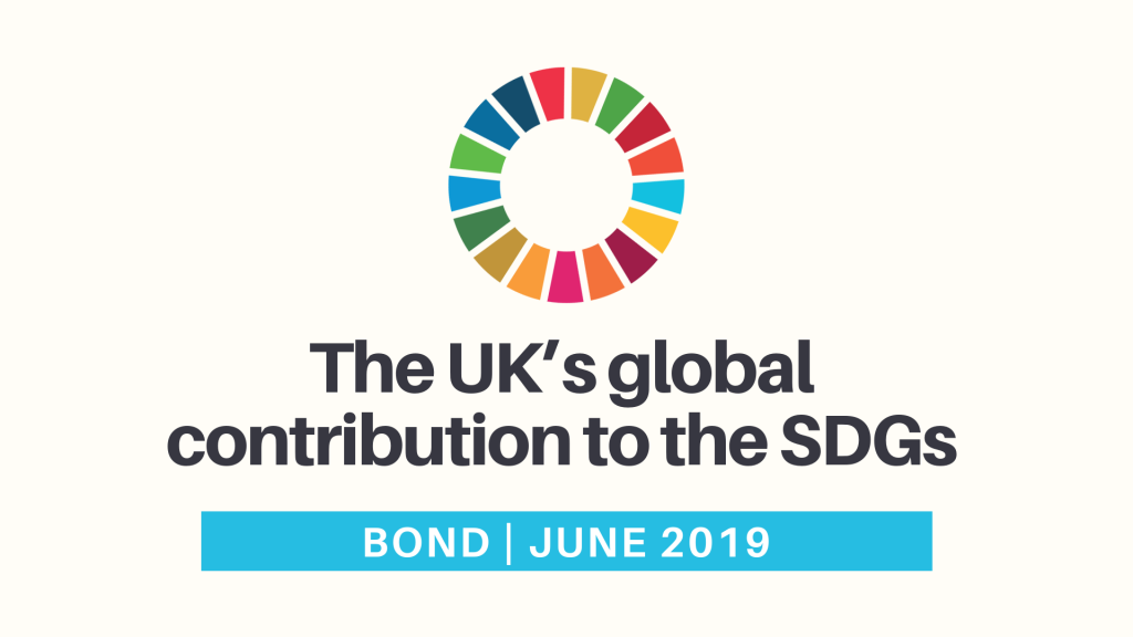 The UK's global contribution to the SDGs