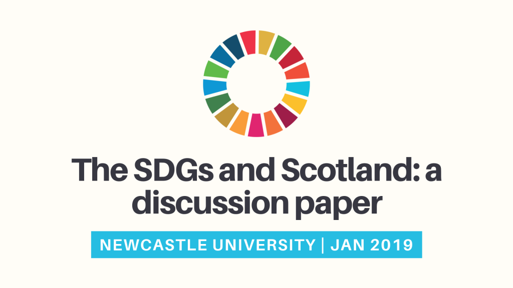 The SDGs and Scotland: a discussion paper and initial analysis