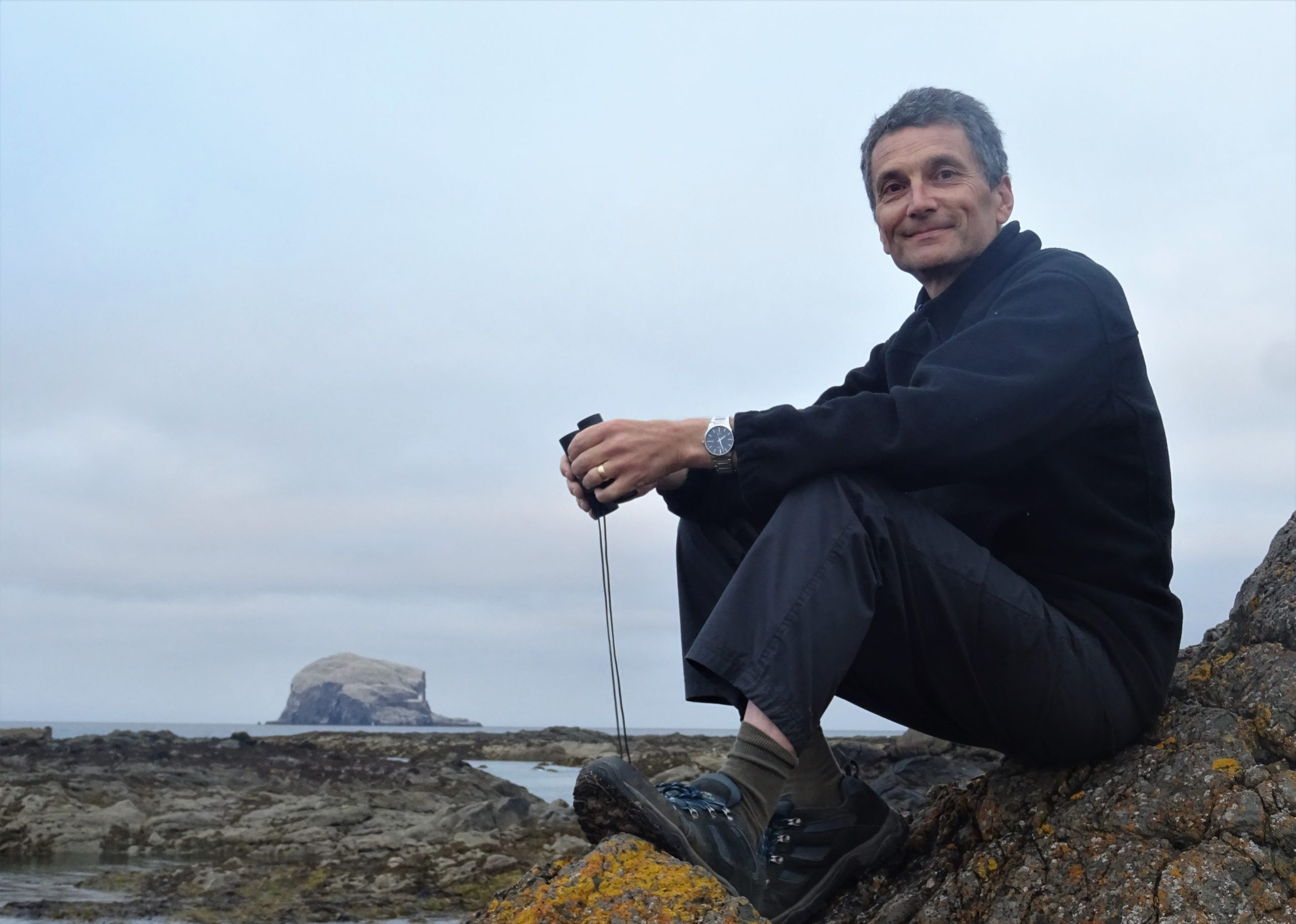 Author Neil Kitching at Bass Rock